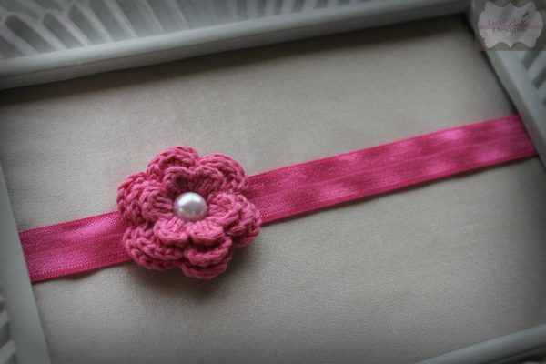 Bubblegum Pink Crochet Headband - H79