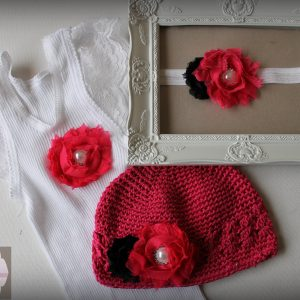 Hot Pink Flower Combo Set - SC78