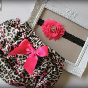 Leopard Ruffle Bums & Headband Set - RB4