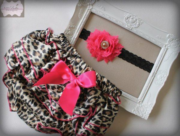 Leopard Ruffle Bums & Headband Set - RB4