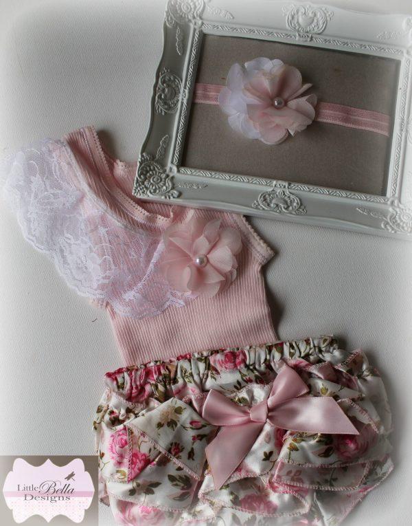 Pink Floral Lace Set - SC74