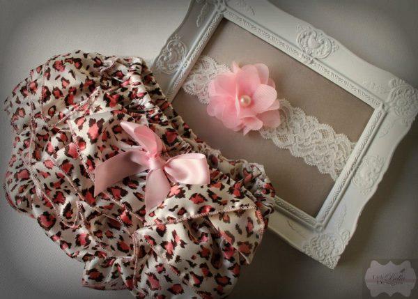 Pink Lace Ruffle Bums & Headband Set - RB6