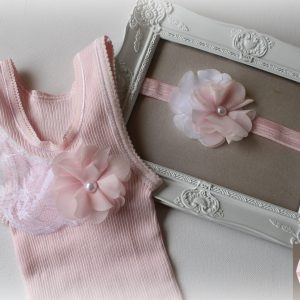 Pink Lace Singlet Headband Set - SC75