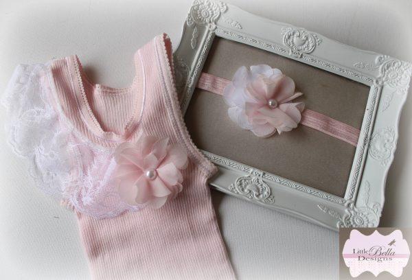 Pink Lace Singlet Headband Set - SC75
