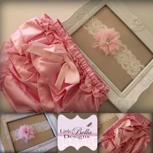 Pink Ruffle Bums & Headband Set - RB3