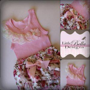 Pink Singlet Ruffle Bum Set - SC72