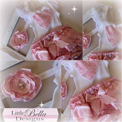 Pink Vintage Glam Ruffle Set - SC75