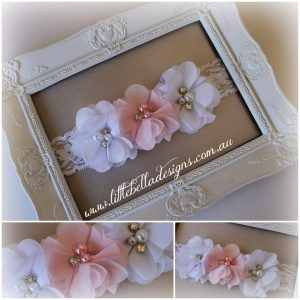 Pretty Pink & White Headband