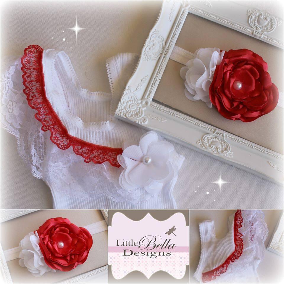 Red Lace Singlet & Headband - SC79