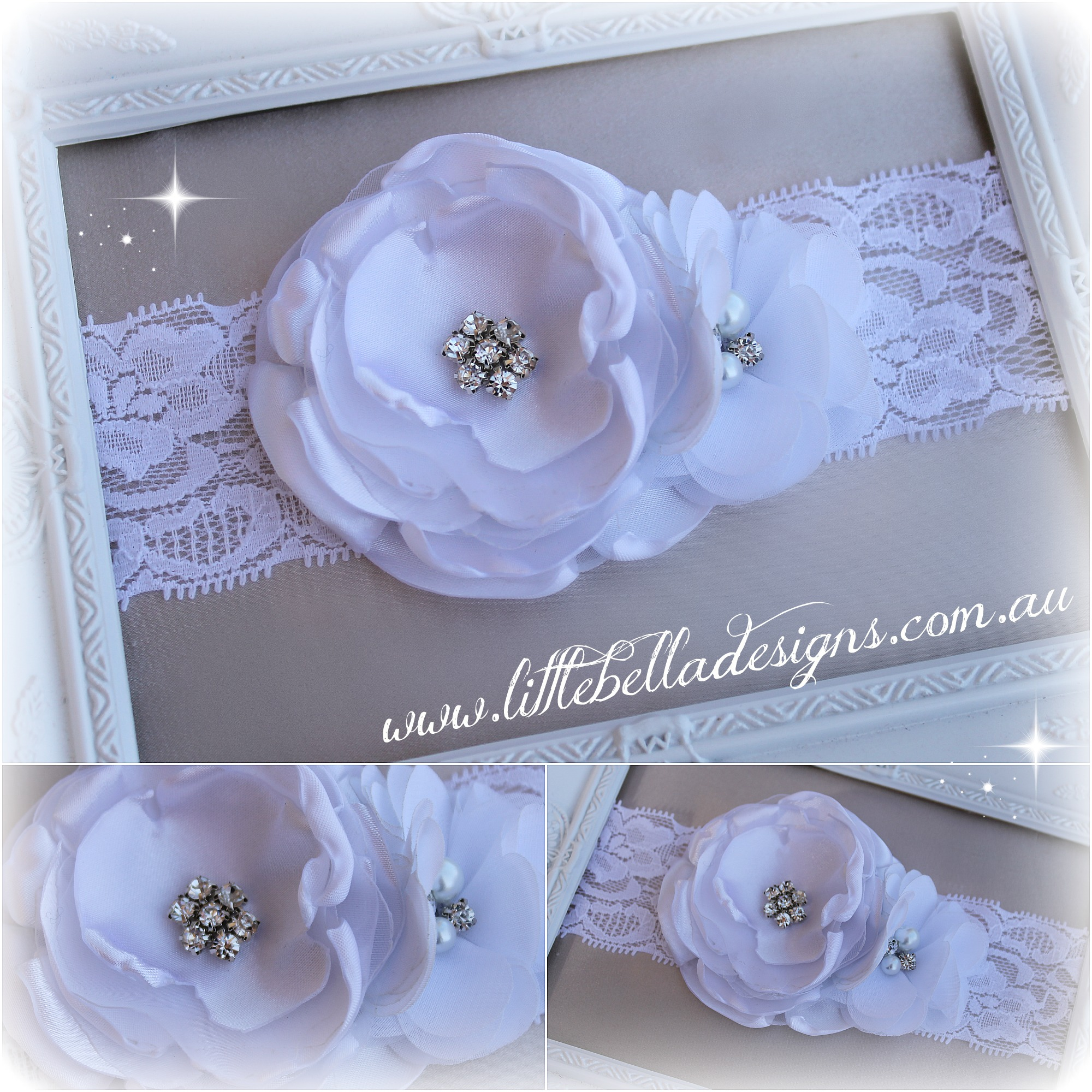 White Bling Headband
