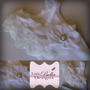 White Ivory Lace Singlet - SC69