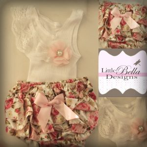White Lace Singlet with Floral Ruffles - SC66
